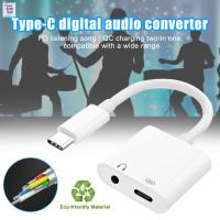 MG TypeC Digital Audio Converter 2 in 1 Headphone Jack Audio Splitt 1t