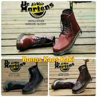 Sepatu Safety Pria Boots Docmart 8 Hole Original Handmade Murah