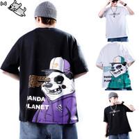 Kaos T-Shirt Pria/Wanita Lengan Pendek Model Hip Hop Round Neck