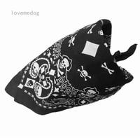 Masker Bandana Bahan Katun Motif Tengkorak Paisley Warna Hitam Putih