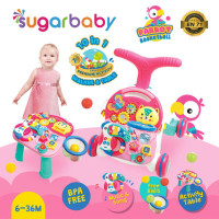 Sugar Baby 10IN1 Activity Walker & Table-Parrot Basketball Pink