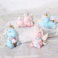 Ornamen Boneka Unicorn Untuk Dekorasi Kue Ulang Tahun