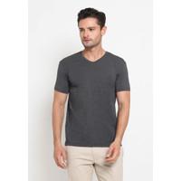 The Executive Basic V Neck T-Shirt 1-TSIBSC519O043 Dark Grey