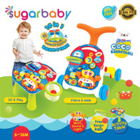 Sugar Baby 10IN1 Activity Walker & Table-Coco Basketball Red Blue