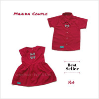 Grosir Baju kembaran anak couple kakak adik katun merah 1-5 tahun