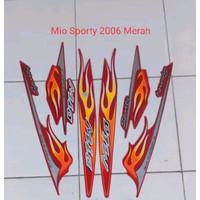 KSH Striping Stiker Motor Yamaha Mio Sporty 2006 Lis Merah