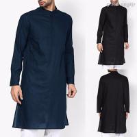 ■❒❦INCERUN India Men kurta T-shirt Tunic Casual Long Sleeve