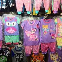 Setelan baju celana harian karakter anak perempuan murah/setelan v3
