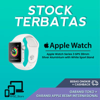 BJ123 Apple Watch Series 3 GPS 38mm Silver Aluminium with White Sport