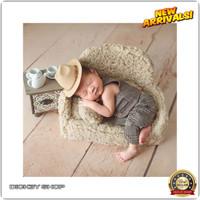 DS 4Pcs/Set Bantal Sofa+Alas Duduk Bayi Newborn Untuk Properti Fo