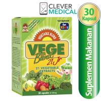 Vegeblend 21 Junior Ekstrak 21 Jenis Sayuran-30 Kapsul