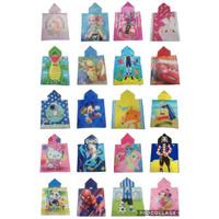 ZO179 Handuk Ponco Karakter Anak Handuk Renang Baju Handuk Handuk Hood