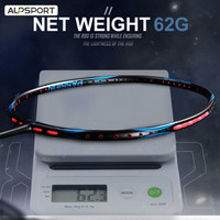 ALP FZ 8U 62g 100% Full Carbon Pro Badminton Raket With String
