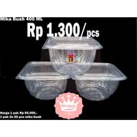 EN993 MIKA BOWL 400 ML 50 PCS TUTUP BENING - WADAH SALAD BUAH - CUP ES