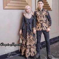 Baju Couple Batik Pasangan Katun Panjang Gurita Meling