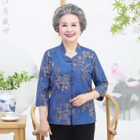 Baju musim semi nenek wanita musim panas baju ibu baju 60 tahun 70