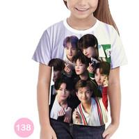 Kaos BTS Printing 3D Baju Kpop Anak Cewe Murah Meriah #138