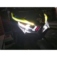 stiker variasi lampu depan PLUS alis vario 125 150 lamborgini