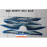 KSH Stiker Striping Motor Yamaha Mio Sporty 2011 Biru