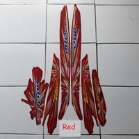 KSH Striping Stiker Motor Yamaha Mio Sporty Kembang Api 2008 Lis Merah