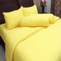 Bed Cover Rosewell Set KING 180x200x20 No. 1 Warna KUNING - BEDCOVER