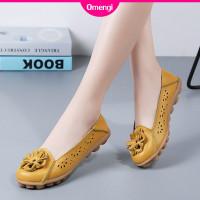 Sepatu Flat Shoes Bahan Kulit Lembut Untuk Wanita 2020