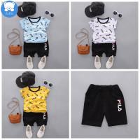 BajuAnak FILA Set ildren's Summer Baby Kids Cute Shirt Pants Set