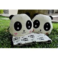 Bantal Selimut balmut Lovely Panda