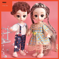 In 16cm 6 1:12 Scale BJD 13 Ball Jointed Doll with Clothes Hair