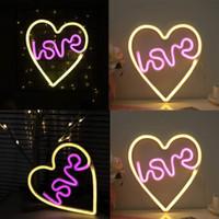Lampu Neon Led Bentuk Hati Untuk Dekorasi Kamar Tidur / Ulang Tahun