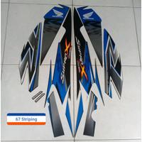 KSH Stiker Striping Motor Honda Supra X R 125 2010 Blue