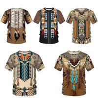 Kaos T-shirt Wanita Dengan Model Bergaya Etnik Indian Untuk Cosplay