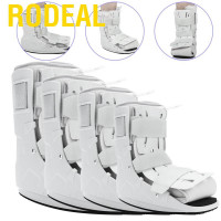 Rodeal Foam Pneumatic Walking Boot Ankle Strap Support Foot Orthosis