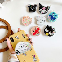 Grosir - 679 Pop Socket Glitter Karakter Disney Bubble Tea Pikau /