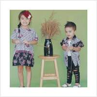 Paling Murah Couple batik anak cewek cowok motif ayam bahan katun prim