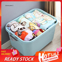 DYL_Home Solid Color Plastic Quilts Clothes Sundries Storage Box