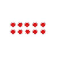 Syauqina 10pcs Red 24mm Push Button untuk Konsol Game Arcad