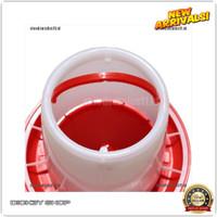 DS 1.5Kg Red Plastic Feeder Baby Chicken Chicks Hen Poultry Feede