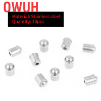 Owuh 10pcs 304 Stainless Steel Push Fit Ball Spring Plunger 67mm