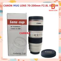 Lens mug Gelas Lensa Kamera Canon Camera Cup Lens STAINLESS Tumbler