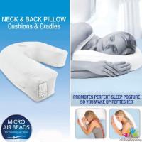 Bantal Leher & Punggung Bentuk U untuk Tidur