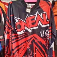 - baju jersey sepeda dan cross oneal merah