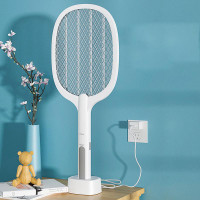 HS 2-in-1 Electric Mosquito Swatter USB Rechargeable Handheld Killi