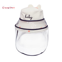 Baby Kids Bucket Hat Protective Face Shield Cover Mask Hats Anti