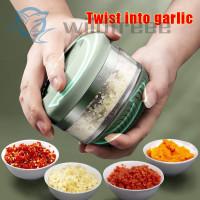 Pemotong Mini Makanan Bawang Putih Model Putar Manual Untuk Wortel