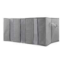 ^^ 65L Storage Bag Organizer Non-woven Fabric Bamboo Clothing