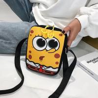 Tas Selempang Bahan Kanvas Motif Spongebob Lucu untuk Handphone