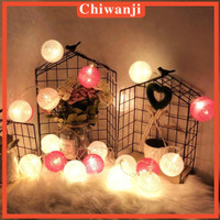 9.8feet 20 LED Cotton Ball Garland Lights String Outdoor Holiday