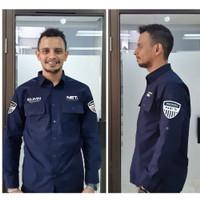 Diskon Seragam PDL Baju Net TV Seragam Hitam Biru Dongker Polos Grosir