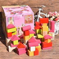 Elc wooden bricks 100 blocks - mainan balok anak - mainan edukasi anak